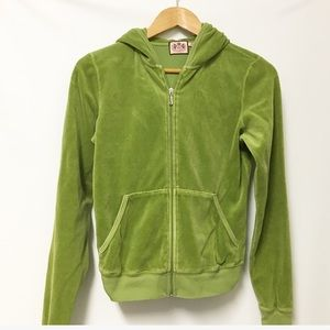 Juicy Couture Velour green track jacket Large